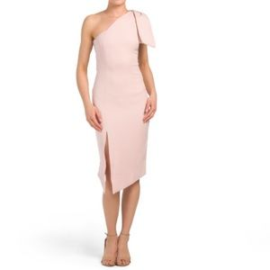 Shoulder Tie Midi Dress